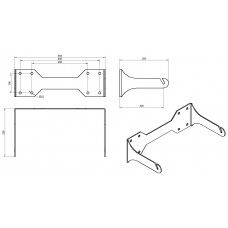 L121 Wall mount bracket