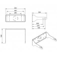 L121A - Wall mount bracket