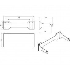 L151 Wall mount bracket