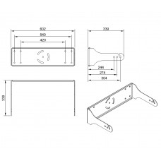 L151A - Wall mount bracket