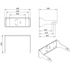 L15A - Wall mount bracket